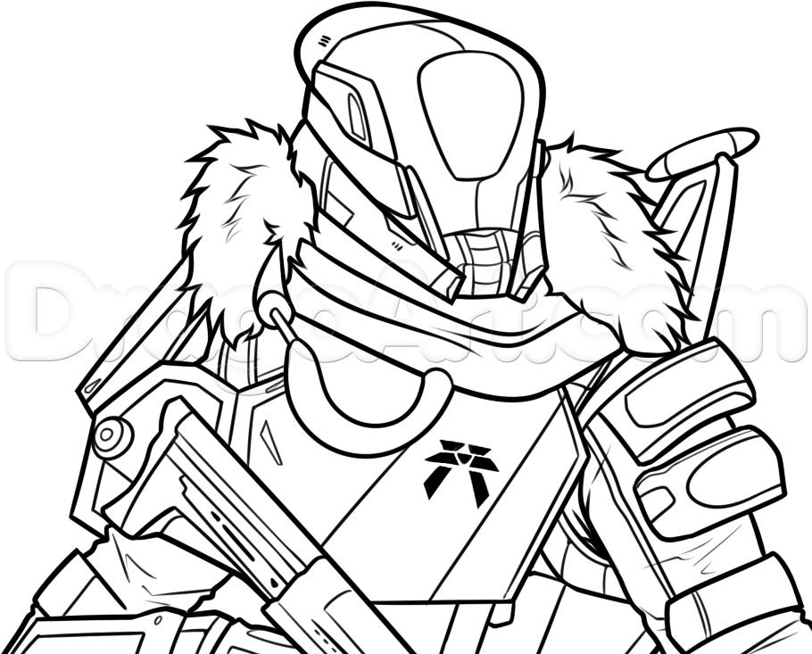 Destiny titan clipart clip stock Destiny Taken King Coloring Sheets coloring page, coloring image ... clip stock