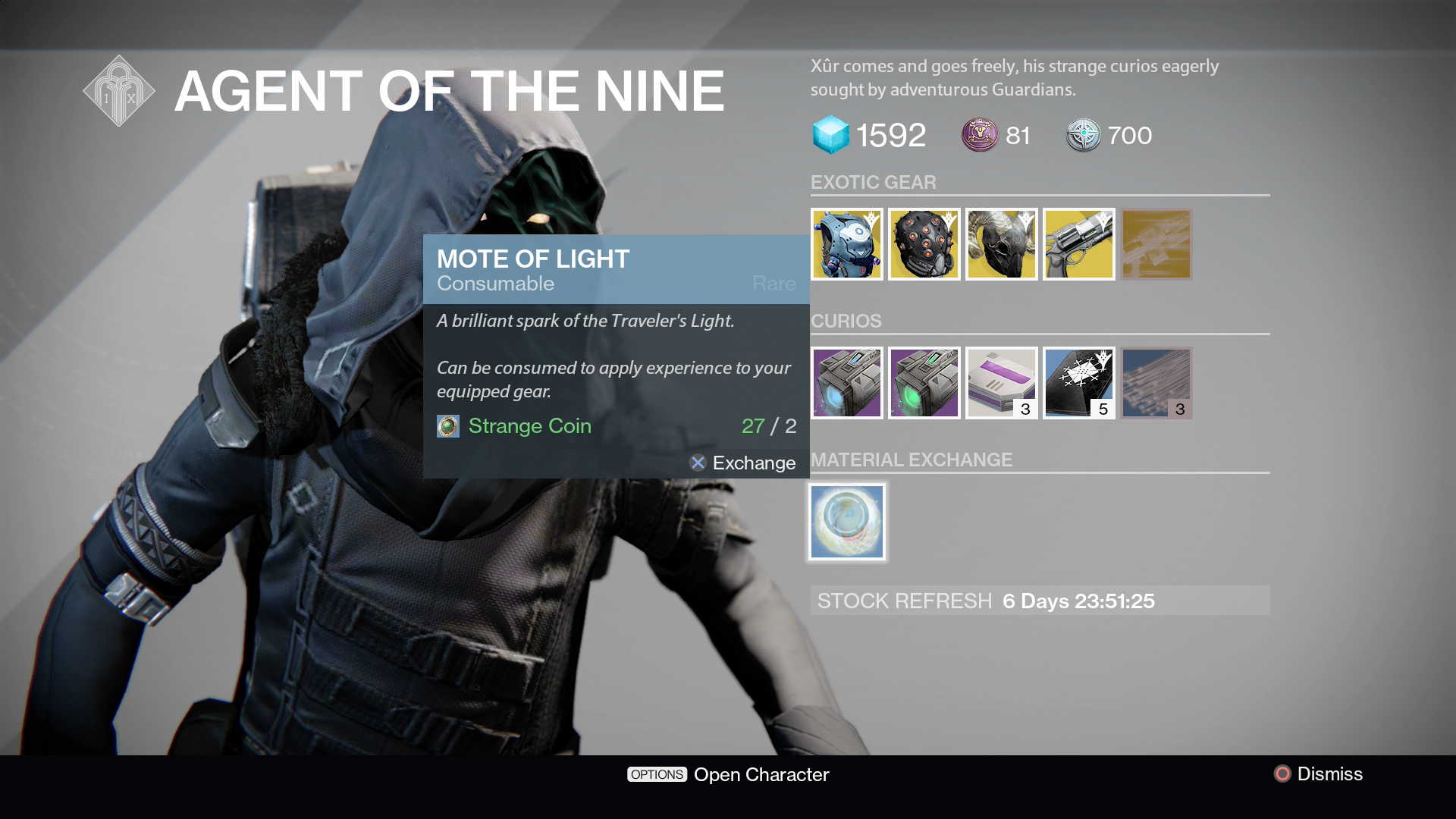 Destiny xur picture transparent stock Destiny Xur Location and Items for April 29-May 1, 2016 Listed picture transparent stock