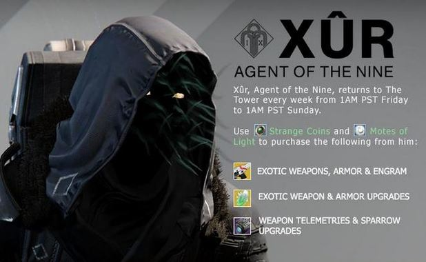 Agent of the nine. Destiny xur