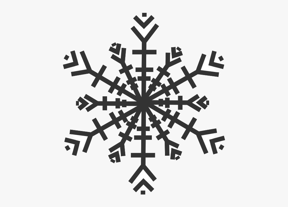 Detail snowflakes text clipart black and white