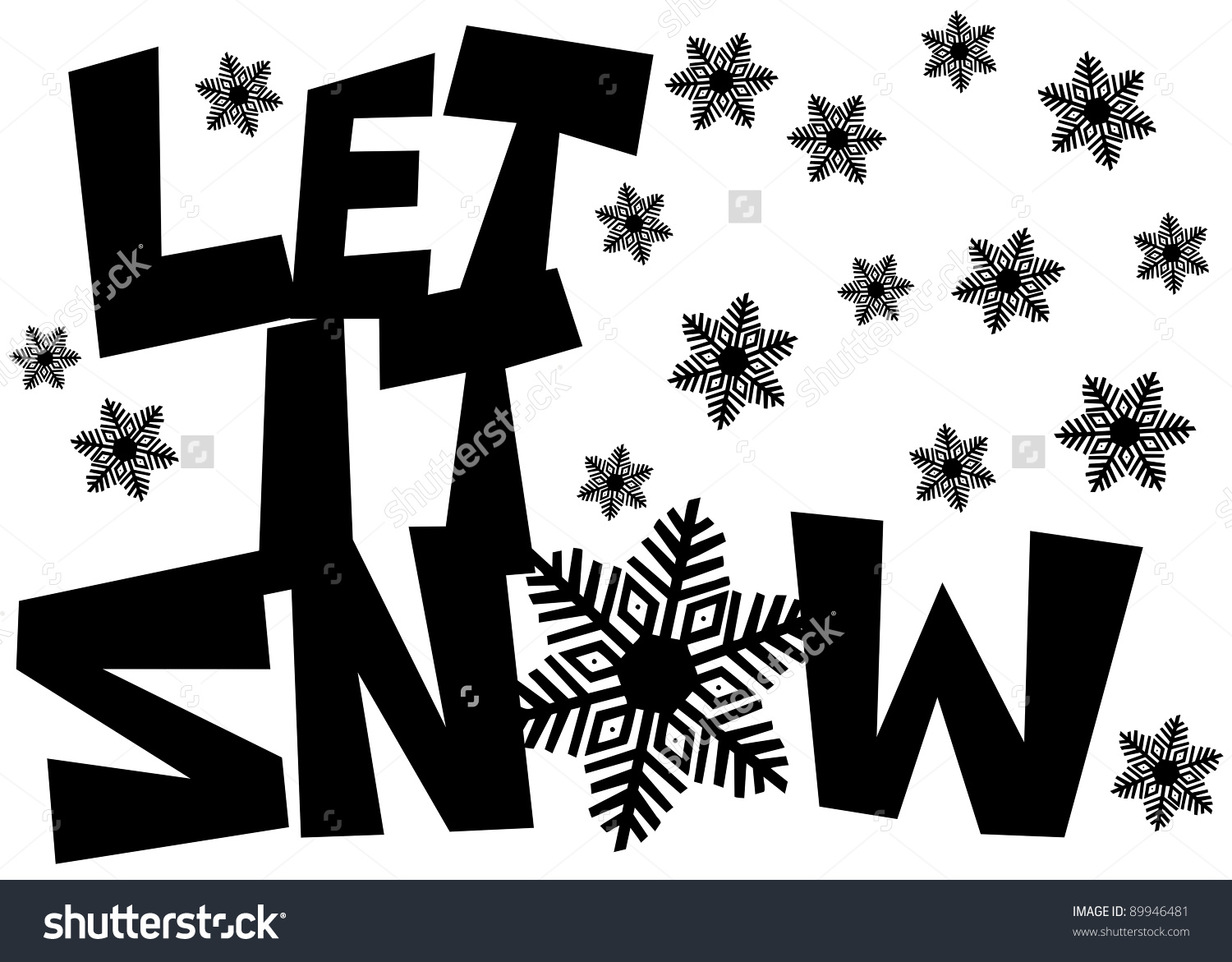 Detail snowflakes text clipart black and white banner stock stock-photo-let-it-snow-freehand-drawn-text-with-snowflake-clipart ... banner stock
