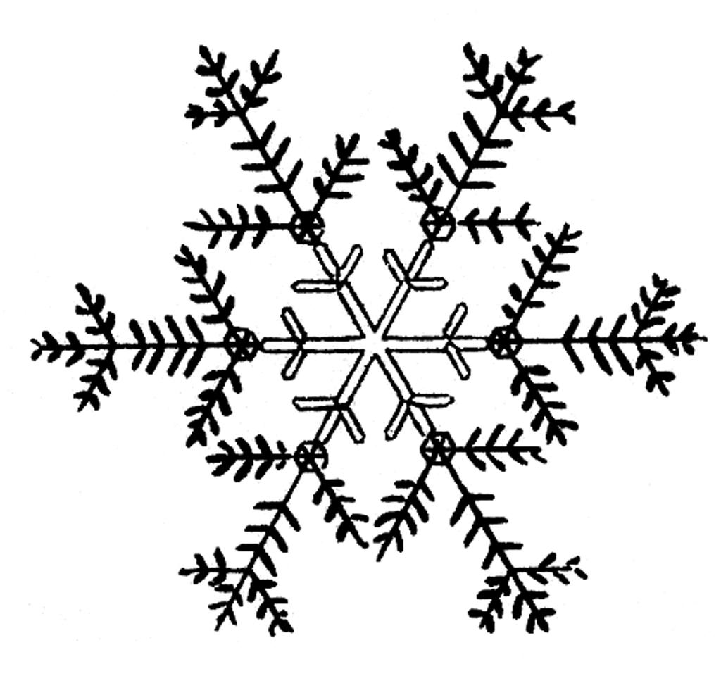 Detail snowflakes text clipart black and white svg freeuse library Snowflake Black And White Clipart Nowman - Clipart1001 - Free Cliparts svg freeuse library