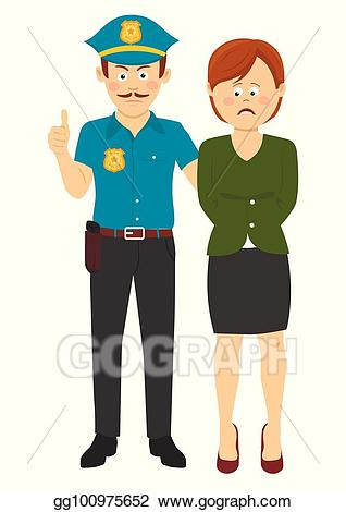 Detain clipart vector free stock Vector Art - Under arrest. law enforcement officer handcuffing a ... vector free stock