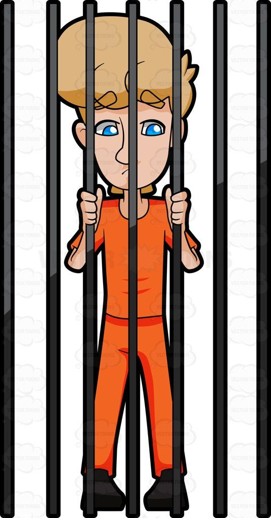 Detain clipart vector library A Man Behind Bars #apprehend #apprehension #arrest #captive #capture ... vector library