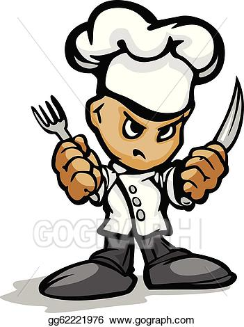 Determined face clipart image stock Vector Stock - Restaurant chef or cook mascot with determined face ... image stock