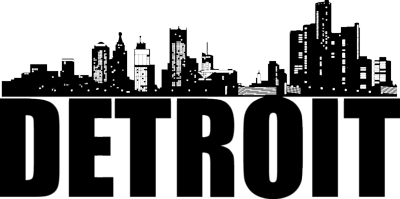 Detroit clipart banner black and white stock Detroit skyline clipart clipart images gallery for free download ... banner black and white stock