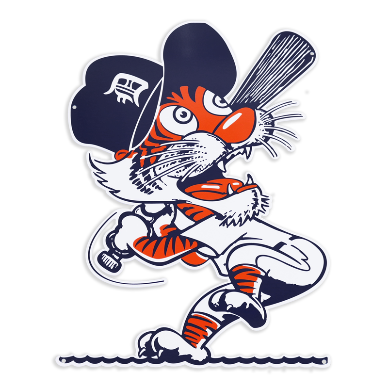 Detroit tigers baseball clipart clip art stock Authentic Street Signs Detroit Tigers Swinging Kitty 12