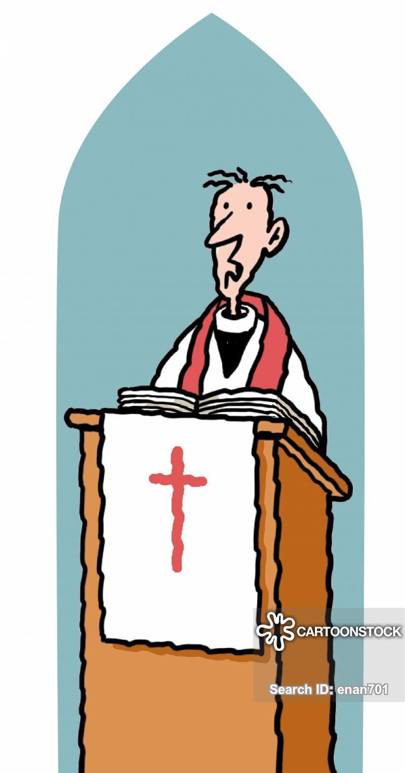 Devil at the pulpit clipart