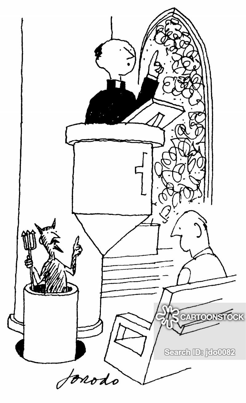 Devil at the pulpit clipart clipart freeuse library Pulpit Cartoons and Comics - funny pictures from CartoonStock clipart freeuse library