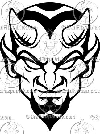 Kids saying no to the devil clipart vector black and white stock Blue Devils Mascot Logo | Art in 2019 | Devil tattoo, Satanic ... vector black and white stock