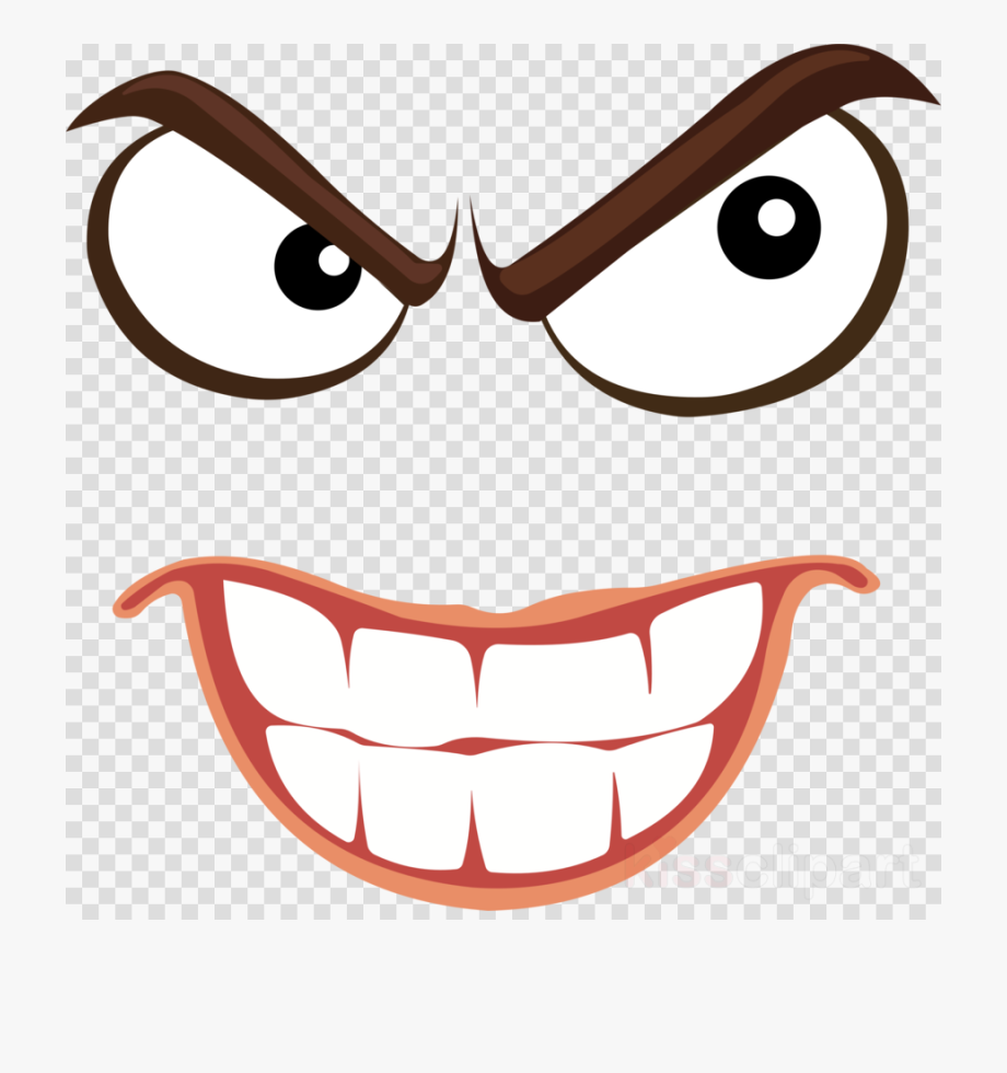 Devil face clipart clip art library stock Smile Clipart Angry - Devil Face Transparent Background #881838 ... clip art library stock