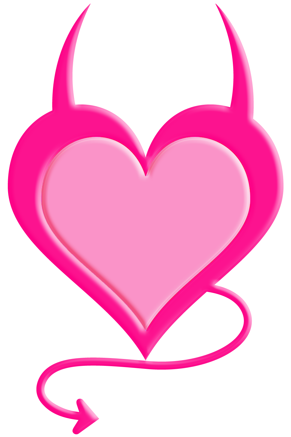 Devil heart clipart vector free download Transparent Pink Devil Heart PNG Picture | Gallery Yopriceville ... vector free download