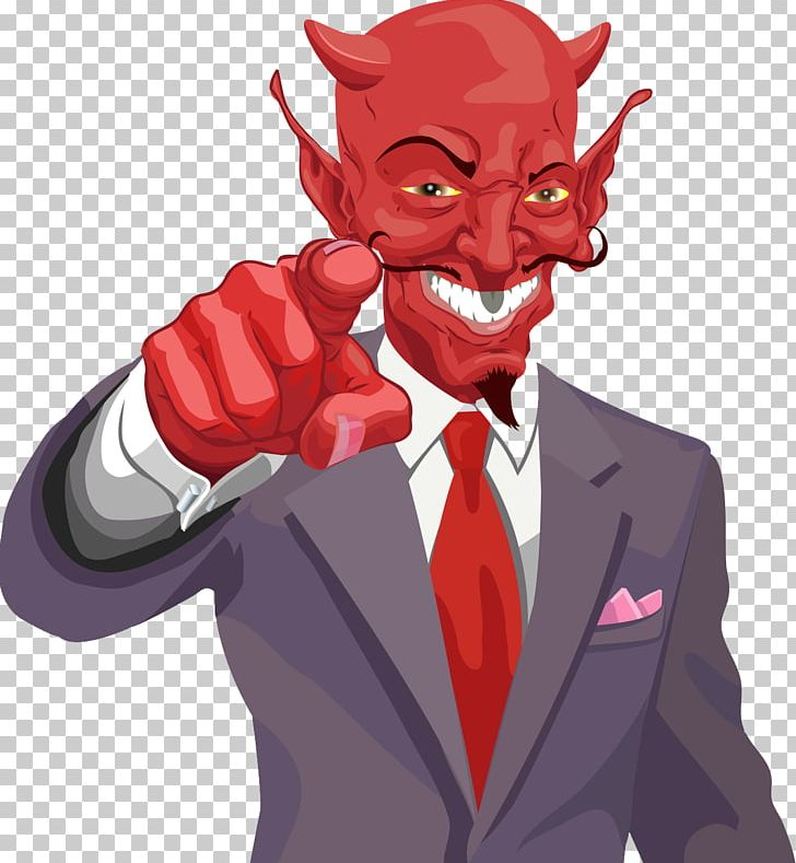 Devil in a 3 piece suit clipart