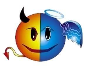 Smiley angel face clipart clip art transparent Smileys for Facebook Chat: Devil or Angel | Facebook Emoticons ... clip art transparent