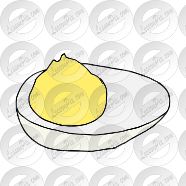 Deviled eggs clipart clip freeuse Deviled Egg Picture for Classroom / Therapy Use - Great Deviled Egg ... clip freeuse