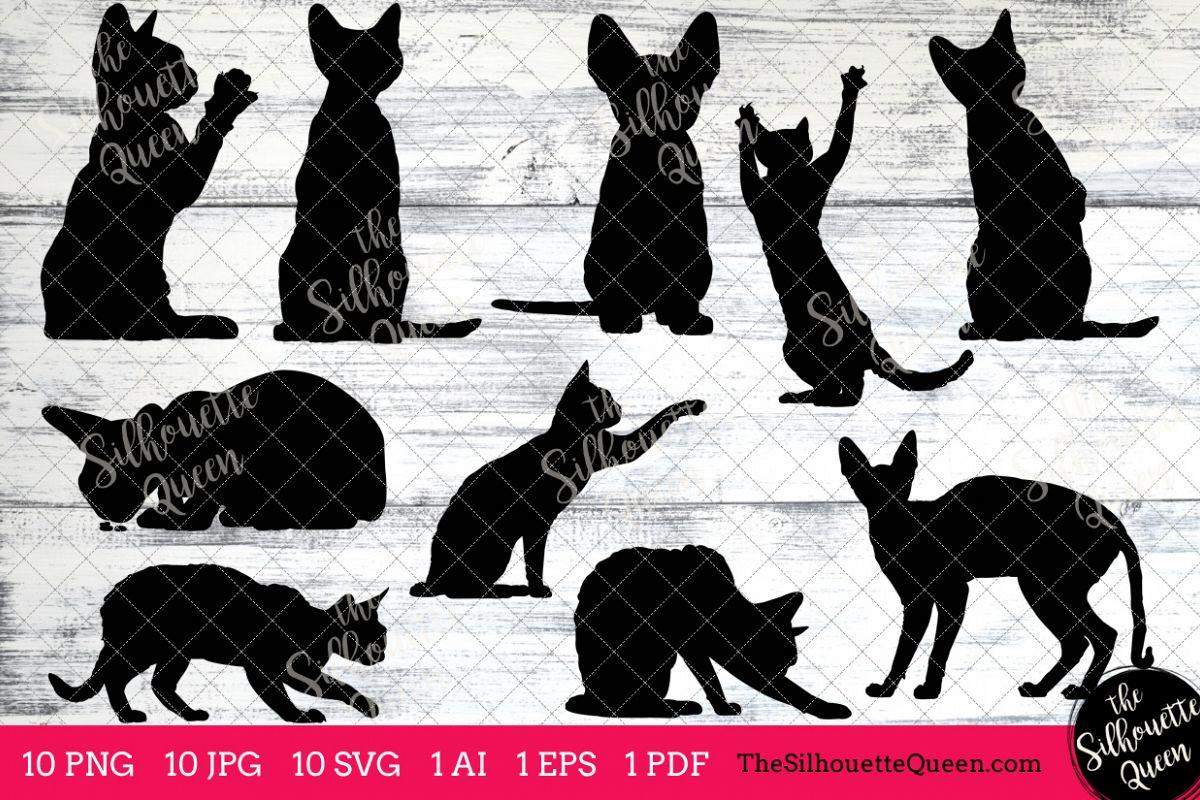 Devon clipart vector stock Devon Rex Cat Silhouettes Clipart Clip Art(AI, EPS, SVGs, JPGs, PNGs, PDF),  Cat Clip Art Clipart Vectors - Commercial and Personal Use vector stock