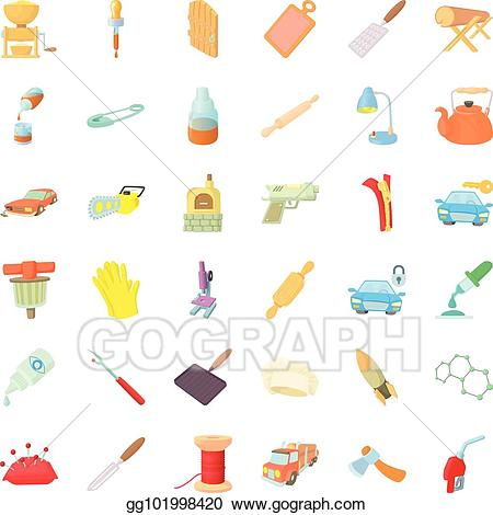 Dexterity clipart graphic free library EPS Illustration - Dexterity icons set, cartoon style. Vector ... graphic free library