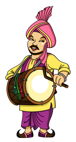 Dhol clipart picture freeuse stock Punjabi dhol clipart 12 » Clipart Station picture freeuse stock