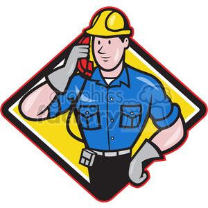 Dia clipart image freeuse stock telephone repairman calling phone DIA clipart. Royalty-free clipart # 390473 image freeuse stock