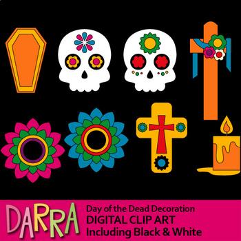 Dia clipart clip library stock Day of the dead clipart (Dia de los Muertos)... by DarraKadisha ... clip library stock
