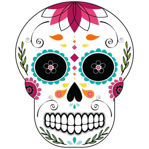Dia de los muertos clipart black and grey picture royalty free Logo | Sugar Skull Color picture royalty free