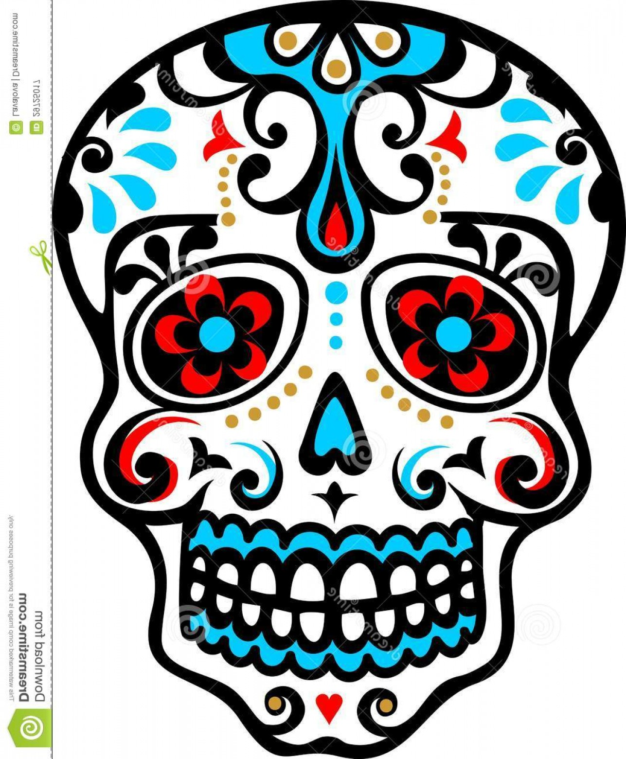 Dia de los muertos clipart free jpg library stock Royalty Free Stock Photography Mexican Skull El Dia De Los Muertos ... jpg library stock