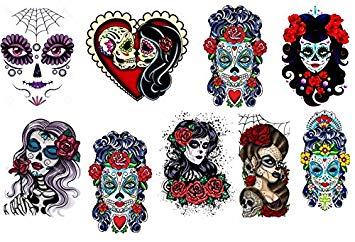 Dia de los muertos girly skull clipart clip art royalty free library Amazon.com: Sugar Skull ~ Day of the Dead ~ Día de los Muertos ... clip art royalty free library
