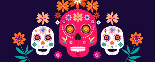 Dia de los muertos marigold skull clipart graphic royalty free stock Here\'s How to Have a STEM-Themed \'Día de los Muertos\' Celebration ... graphic royalty free stock