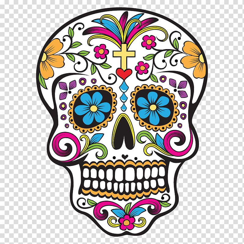 Dia de los muertos marigold skull clipart clip art free download Calavera Day of the Dead Skull Wedding cake , skull transparent ... clip art free download