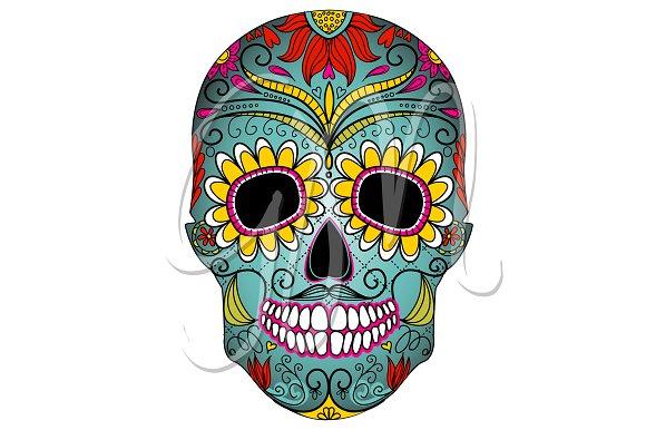 Dia de los muertos skull clipart banner library library Sugar Skull Day of the Dead Clip Art banner library library