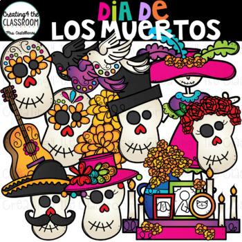 Dia de los muertos skull clipart png black and white download Dia De Los Muertos Clip Art {Day of the Dead Clip Art} png black and white download