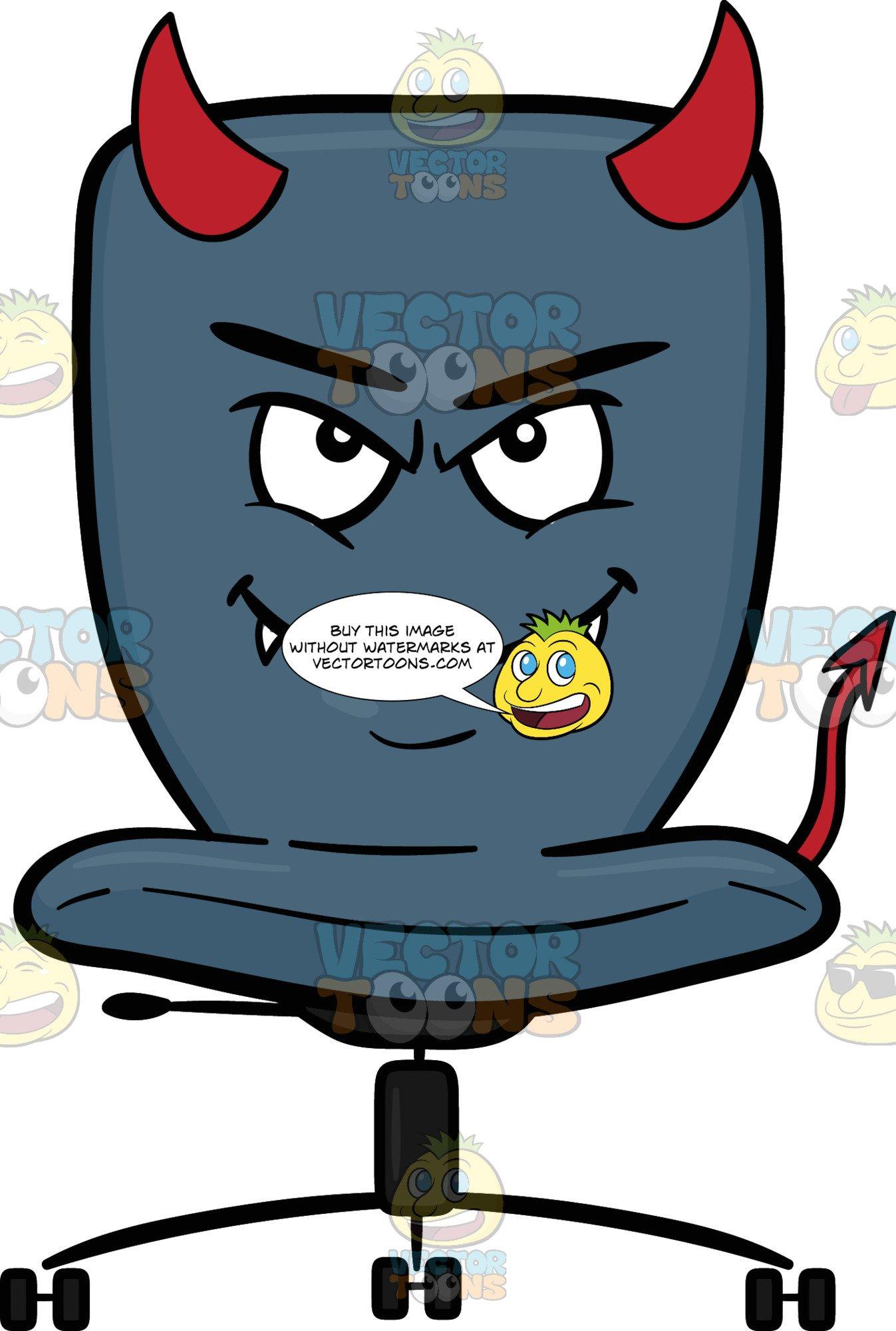 Diabolic clipart graphic transparent download Devilish Looking Swivel Desk Chair graphic transparent download