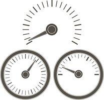 Dial gauge clipart picture download Measuring Gauge Dial Outline stock vectors - Clipart.me picture download