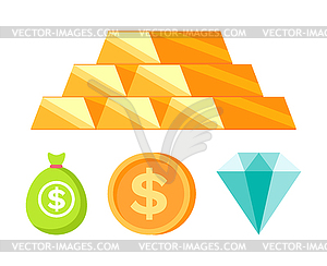 Diamond bank logo clipart clip art Money and Coins, Bullion and Diamond, Bank - vector clip art clip art
