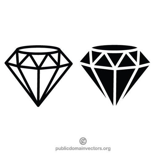 Diamound clipart royalty free Diamond vector clip art graphics | Public domain vectors royalty free