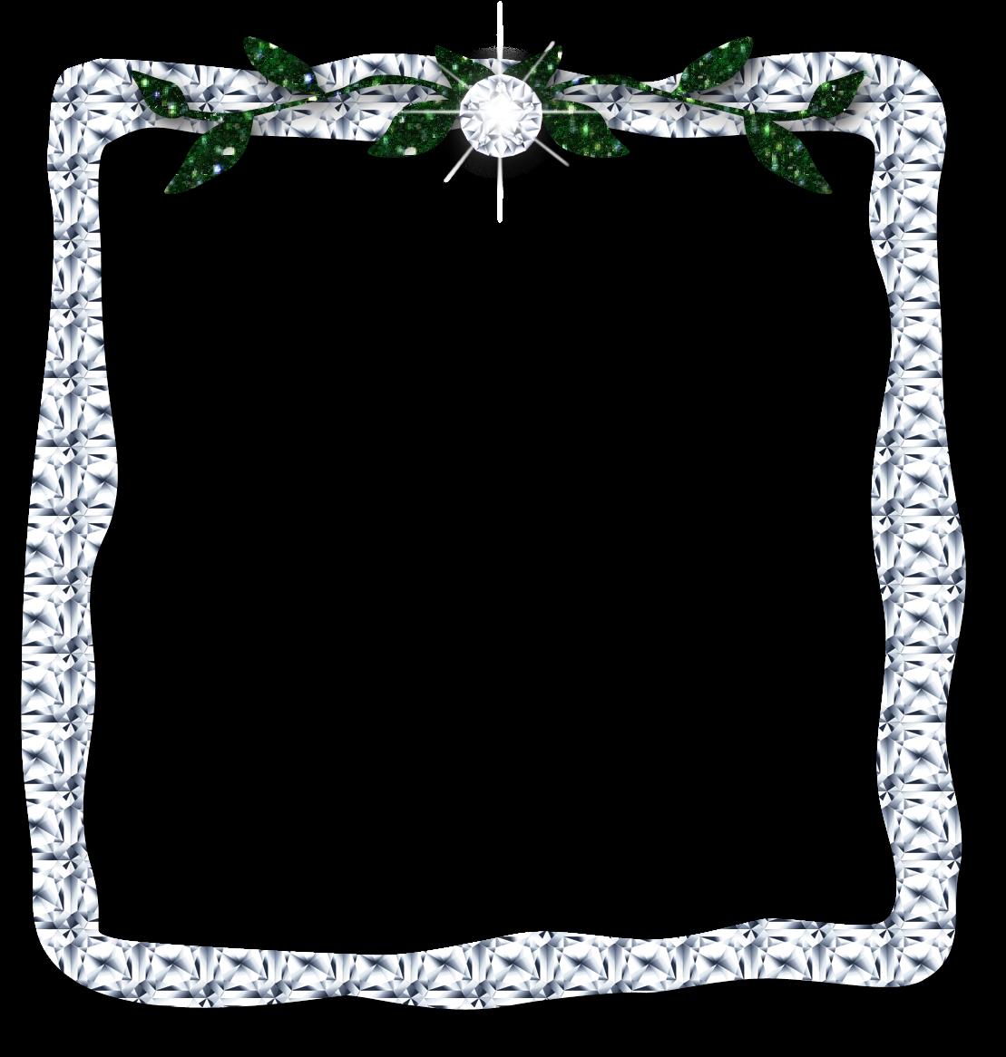 Diamond frame clipart clip art royalty free library Frame Clipart Diamond Leaves Digital Download Silver - Diamond ... clip art royalty free library