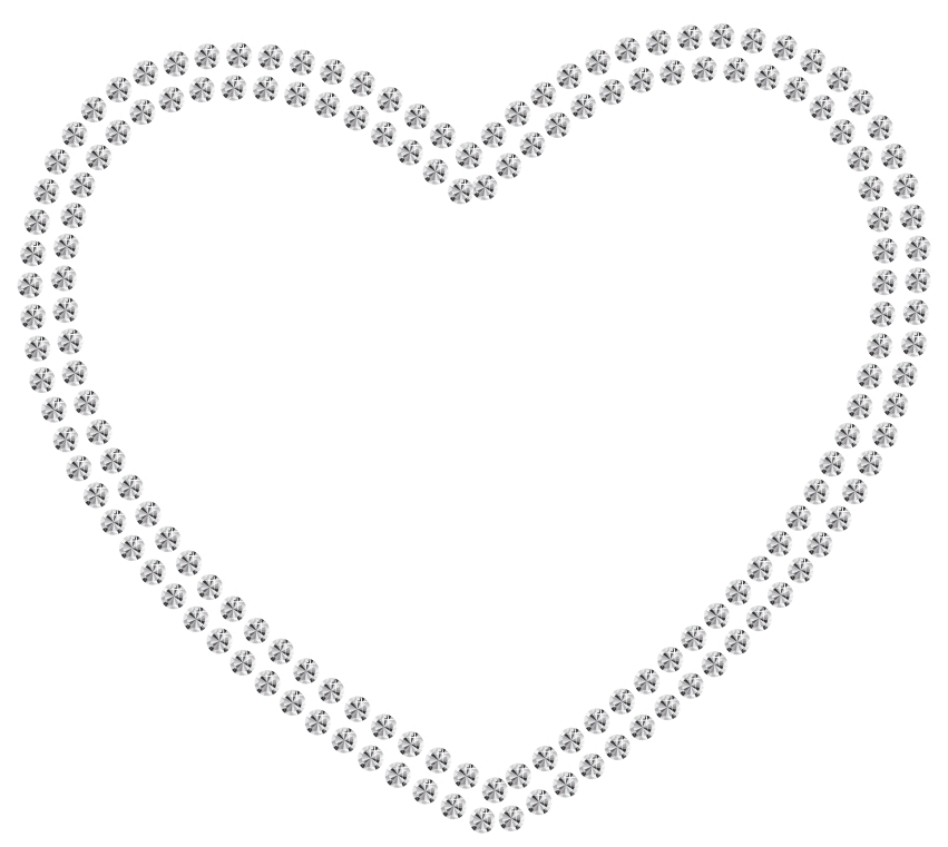 Heart diamond clipart clip royalty free white diamond heart png - Free PNG Images | TOPpng clip royalty free