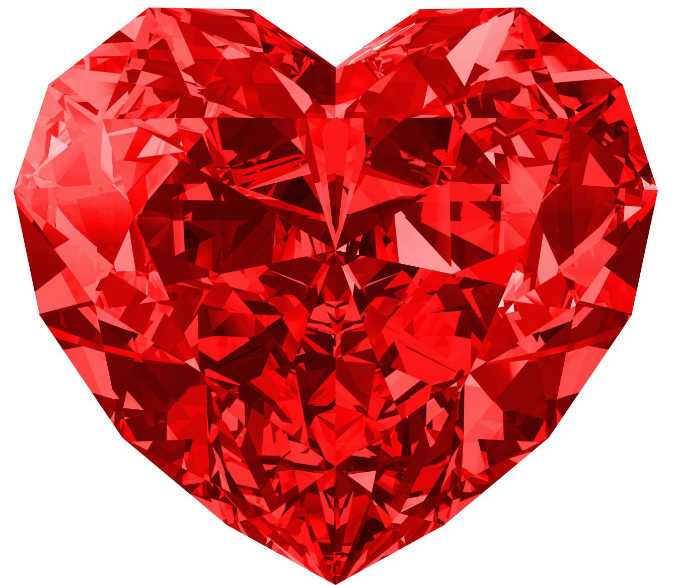 Heart diamond clipart clipart black and white download Red Diamond Heart Large PNG Picture | Gallery Yopriceville - High ... clipart black and white download