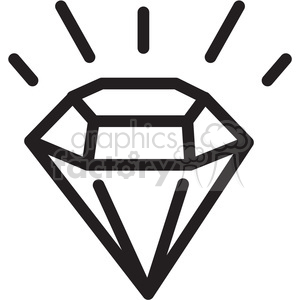 Diamond icon clipart image black and white library imperfect diamond icon . Royalty-free icon # 398302 image black and white library