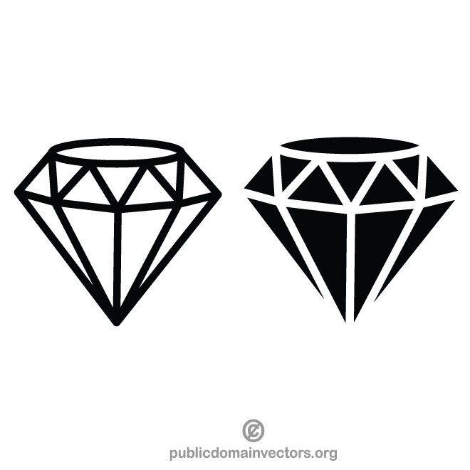 Diamond line clipart graphic library library Diamond clip art vector - Free vector image in AI and EPS format. graphic library library