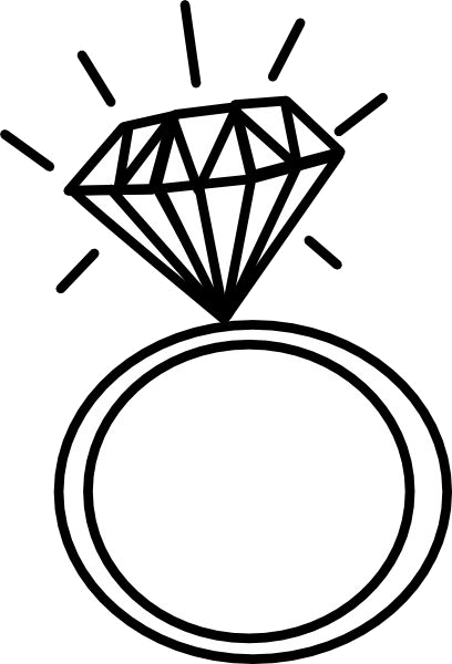 Diamond ring black and white clipart svg black and white library Diamond Ring Engagement Wedding Graphic Rings Clipart Png - AZPng svg black and white library