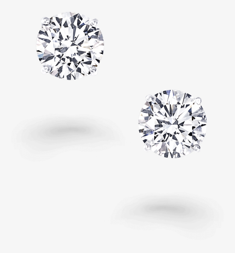 Diamond stud earring clipart graphic transparent stock A Pair Of Classic Graff Round Diamond Stud Earrings - Diamond PNG ... graphic transparent stock