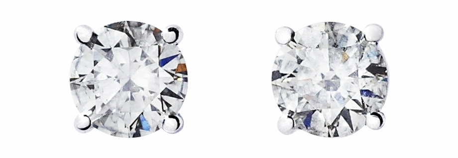 Diamond stud earring clipart picture stock Diamond Stud Earring 4-prong Setting In White Gold - Earrings Free ... picture stock