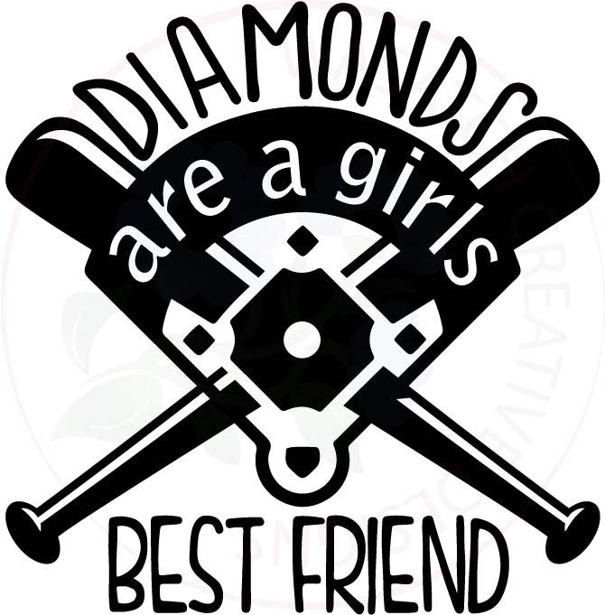 Diamonds are a girl s best friend shirt clipart clip art free Pin by Wasatch Creative Designs on Sports | Baseball shirts ... clip art free