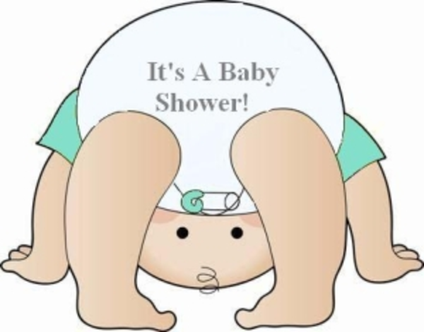 Diaper shower clip art
