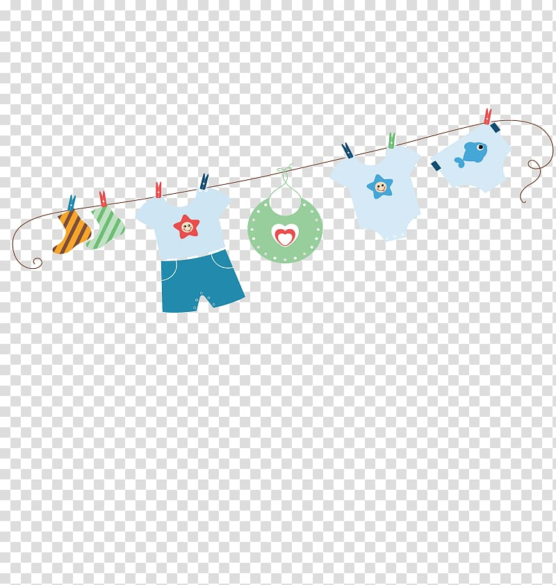 Diapers on the line clipart clip art library library Assorted clothes hanging illustration, Diaper Clothes line Infant ... clip art library library