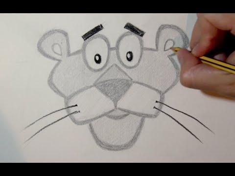 Dibujos a lapiz faciles clipart free stock Cómo dibujar a la Pantera Rosa paso a paso a lápiz - YouTube clipart free stock