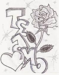 Dibujos de amor a lapiz