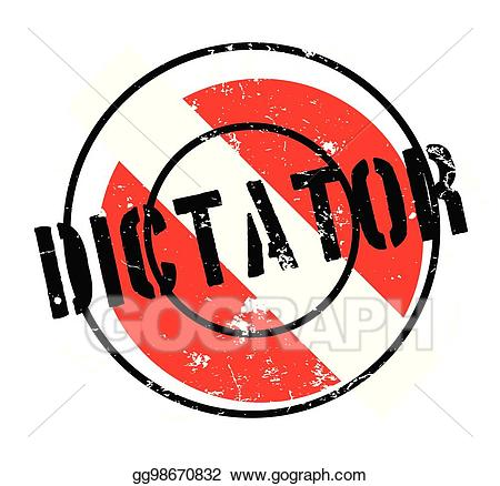 Dictatorship clipart vector royalty free stock Vector Illustration - Dictator rubber stamp. Stock Clip Art ... vector royalty free stock