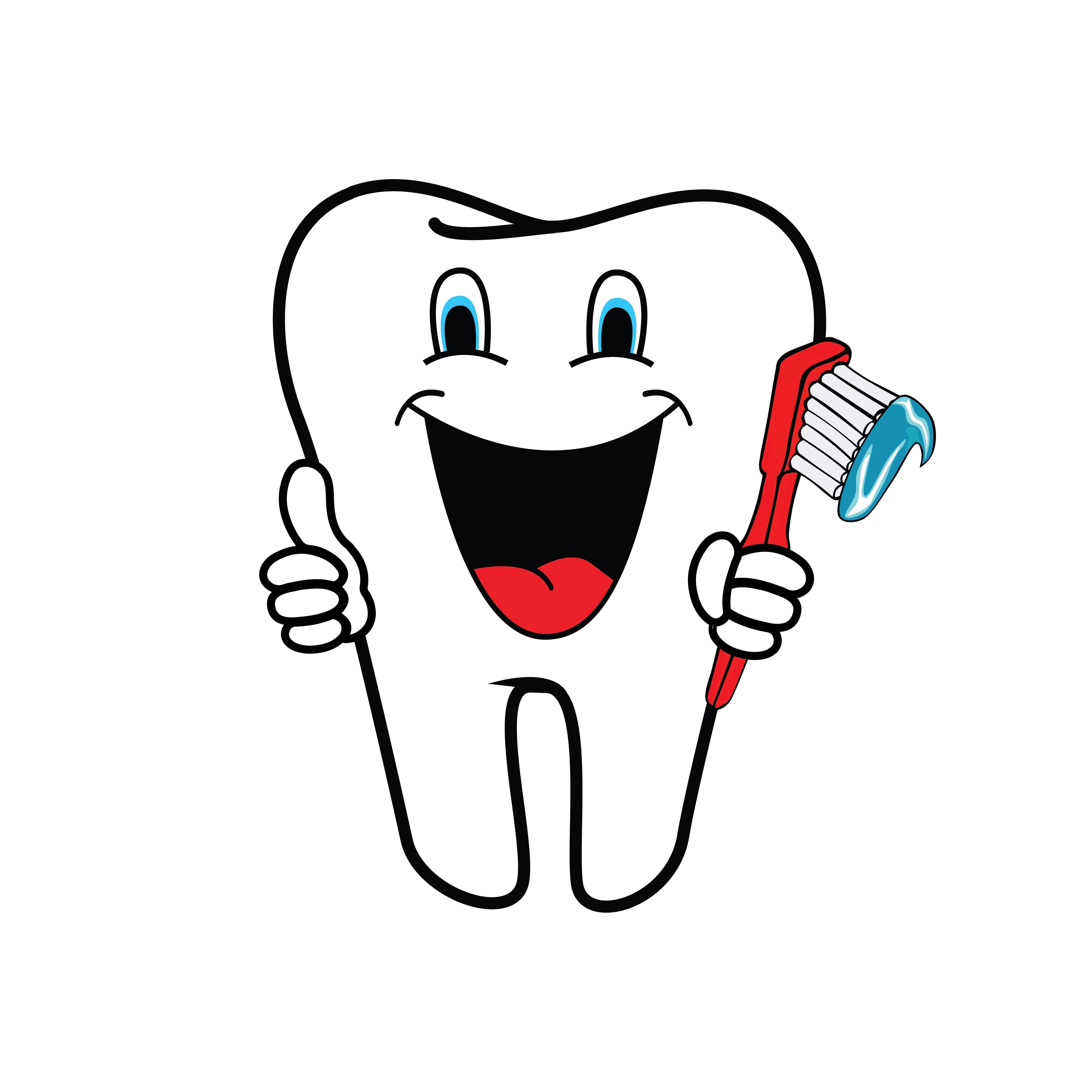 Diente clipart image black and white stock Foto de stock gratuita sobre cepillo de dientes, clipart diente ... image black and white stock